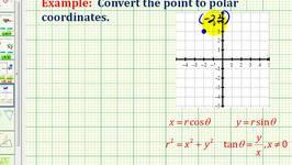Example:  Convert a Point in Rectangular Coordinates to Polar Coordinates Using Degrees