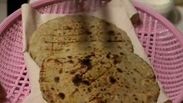 Methi Matar Bhakri or Paratha - Flavored Flat Bread for Breakfast