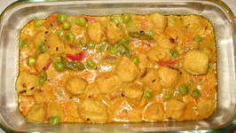 Soya Chunks With Green Peas Curry Recipe By Snigdha Ifood Tv