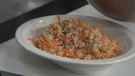 Barley and Garbanzo Bean Salad with Lemon Pepper Vinaigrette