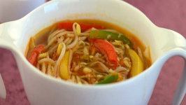 Vegetable and Noodle Soup by Tarla Dalal