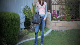 Simple Spring Outfit Of The Day (Cropped Top with Back Zipper / High Waist Skinny Jeans)