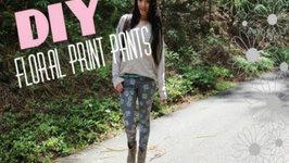 DIY Floral Print Pants