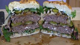 SmokingPit.com - Blue Cheese Mushroom and Swiss Buffalo Burger Santa Maria Grilled on the Scottsdale