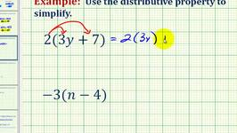 Ex 1:  The Distributive Property