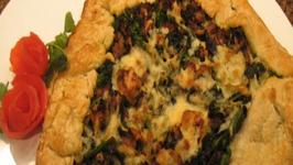 Broccoli Rabe And Sausage Crostata