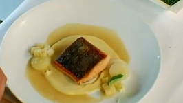 Seared Scottish Salmon With Parsnip Puree