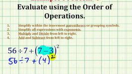 Example 3:  Evaluate An Expression Using The Order of Operation