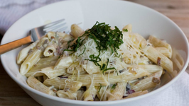 Penne with Chanterelle and Cep Sauce
