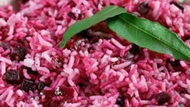 Spicy Beet with Coconut and Rice