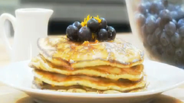 Blueberry Hot Pan Cakes