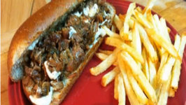 Cajun Pork Po' Boys and Homemade Fast Food French Fries