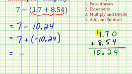 Ex 2:  Simplify an Expressing With Decimals Involving Addition and Subtraction
