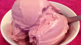 Homemade Strawberry Vanilla Coconut Ice Cream in Blender
