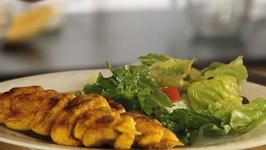 Grilled Chicken Kebabs and Greek Salad