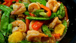 Orange Shrimp Stir Fry