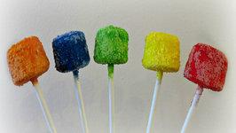Skittles Covered Marshmallow Pops