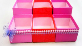 How to make a cosmetics organizer with gift boxes