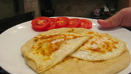 Spicy Fried Eggs And Indian Naan