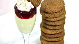 Episode 139 - White Chocolate Mousse with Cranberry Compote and Gingersnaps