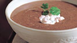 Black Bean Soup with Salsa Cream