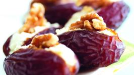 Medjool Dates with Cream Cheese & Walnuts