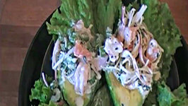 Seafood Salad Stuffed Avocado