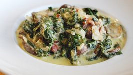 Creamed Spinach With Mushrooms And Cheese