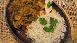 Matar mushroom sizzler by Chef Sonali