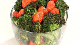 Roasted Broccoli and Grape Tomatoes