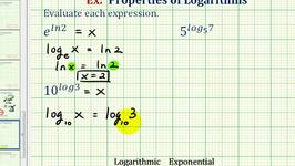 Ex:  Evaluate Exponential Expressions with Logarithmic Exponents
