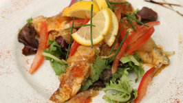 Broiled Fish with Lemon Slices or Tartar Sauce