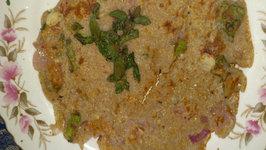 Homemade Healthy Onion Uttapam