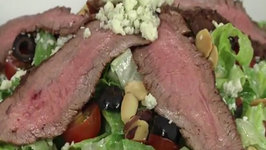 Red White and Blue Steak Salad with Great American Wine Co Red Blend