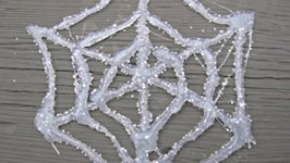 Hot Glue Glitter Spider Web Craft Tutorial