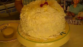Lemon Coconut Cake with Lemon Curd Filling