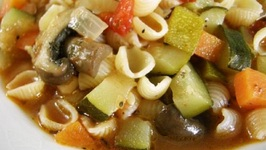 Pasta with Grilled Baby Vegetables