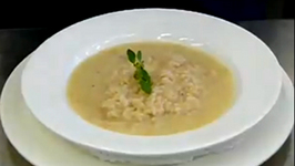 Risotto with Gorgonzola Cheese and Fresh Pear Sauce