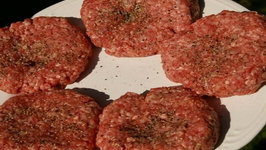Hamburgers on the Grill