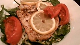 Lemon Fillet with Spinach and Orzo Salad