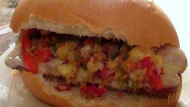One Jalava Sweet Hotdog (with Jalapeno Pineapple Relish)