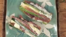 Zucchini with Prosciutto and Mozzarella