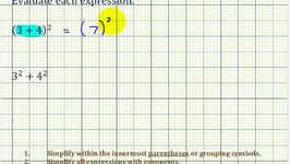 Ex: Evaluate Expressions - Square of a Sum and the Sum of Squares