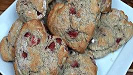 Heart-Shaped Strawberry Scones - Gluten Free Valentine's Day