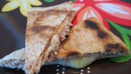 Chicken Bean and Cheese Quesadillas