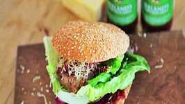 Good Food Ireland Homemade Beef Burger with Ballymaloe Relish