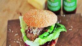Good Food Ireland Homemade Beef Burger with Ballymaloe Relish