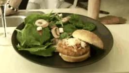 Chicken Burger with Brushetta