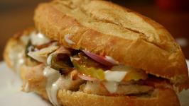 Buffalo Chicken Sub Sandwiches