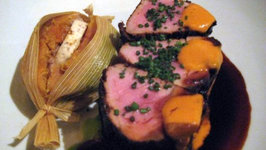 Pork Tenderloin with Bourbon Glazed Sweet Potatoes